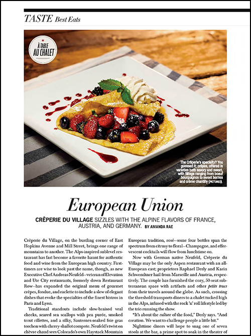 Creperie du Village-Aspen-European Union by Amanda Rae Aspen Peak Magazine Issue I 2015