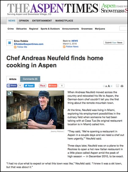 Creperie du Village-Chef Andreas Neufeld finds home cooking in Aspen – Aspen Times Weekly March 6 2016